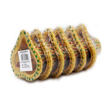 Diwali 6 Pack Gold Diyas