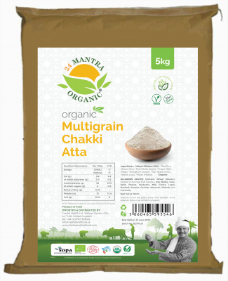 24 Mantra Organic Whole Wheat Atta 5kg