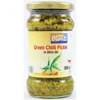 Ashoka Green Chili Pickle In Olive Oil 300g