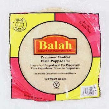 Balah Plain Madras Pappadams 200g