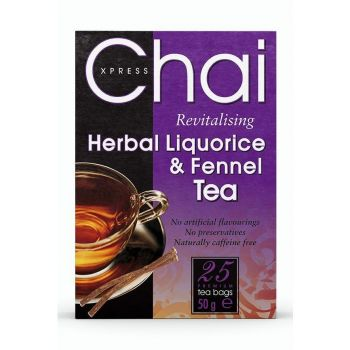 Chai Xpress Herbal Liquorice and Fennel Tea 25 per pack
