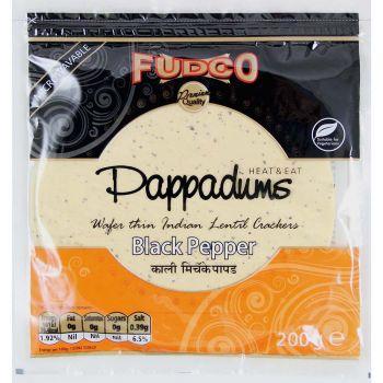 Fudco Black Pepper Pappadums 200g