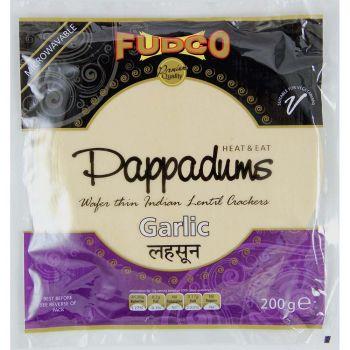 Fudco Garlic Pappadums 200g
