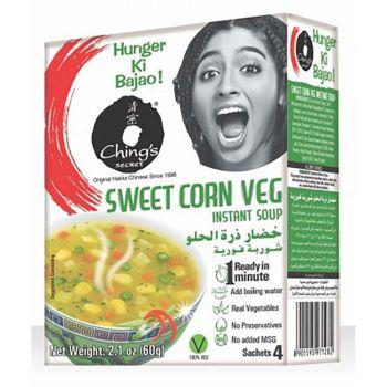 Ching's Secret Sweet Corn Veg Instant Soup Sachets 4