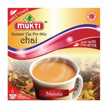 Mukti Instant Tea Pre-Mix Chai Masala Sweetened 10 Sachets