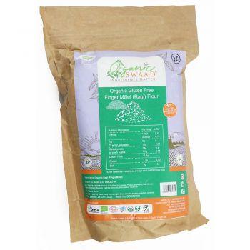 Organic Swaad Organic Gluten Free Finger Millet (Ragi) Flour 1kg