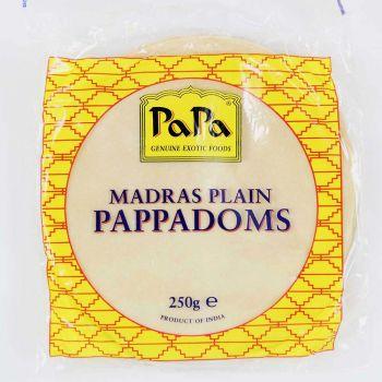 Papa Madras Plain Pappadoms 250g