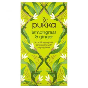 Pukka lemongrass and Ginger 20 Herbal Tea Sachets