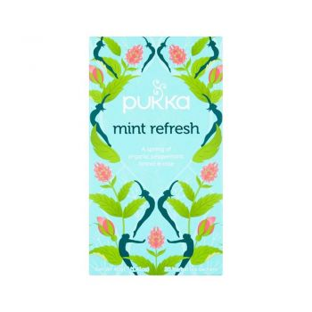 Pukka Mint Refresh 20 Herbal Tea Sachets