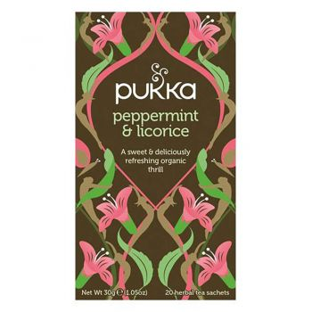 Pukka Peppermint And Licorice 20 Herbal Tea Sachets