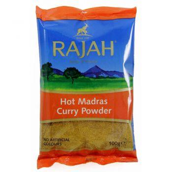 Rajah Hot Madras Curry Powder 100g & 400g packs