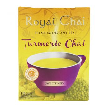 Royal Chai Turmeric Chai Tea Sweetened 10 Cups