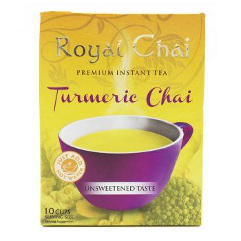 Royal Chai Turmeric Chai Tea Unsweetened 10 Cups