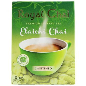 Royal Chai Instant Cardamom Tea Sweetened 10 Sachets