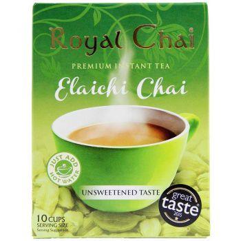 Royal Chai Instant Elachi Chai Unsweetened 10 Sachets