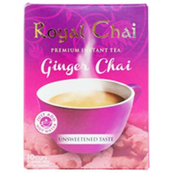 Royal Chai Ginger Tea Unsweetened 10 Cups