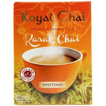 Royal Chai Instant Karak Chai Sweetened 10 Sachets