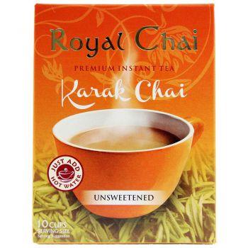 Royal Chai Instant Karak Chai Unsweetened 10 Sachets