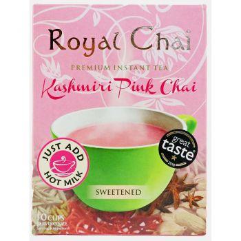 Royal Chai Kashmiri Pink Chai Sweetened 10 Cups