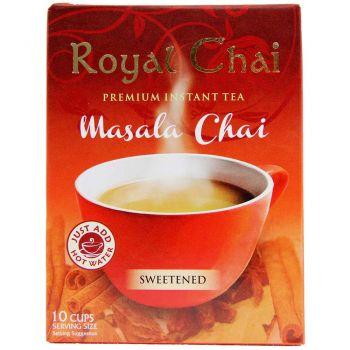 Royal Chai Instant Masala Tea Sweetened 10 Sachets
