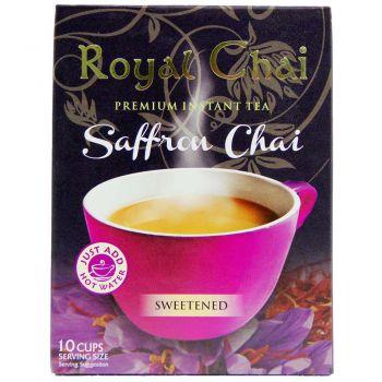 Royal Chai Instant Saffron Chai Sweetened 10 Sachets