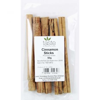 Taste Cinnamon Sticks 50g