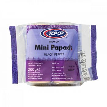 Top Op Mini Blackpepper Papad 200g