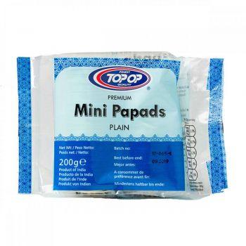 Top op Mini Plain Papads 200g