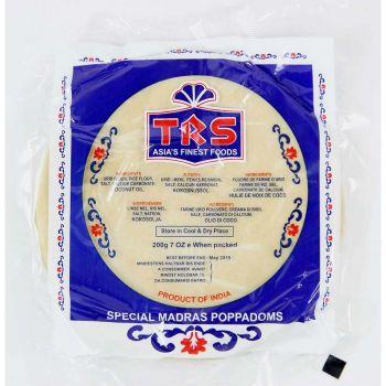 TRS Madras Plain Poppadoms 200g