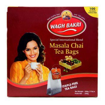 Wagh Bakri Masala Chai Tea Bags 100's